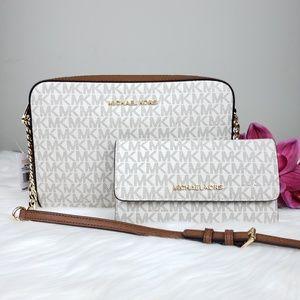 🌺Michael Kors crossbody and wallet set Vanilla MK